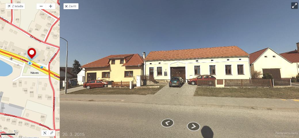 Skvělý podklad pro základní upřesnění - dům je vidět na Mapy.cz nebo Google Street View
